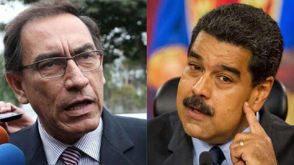 Martín Vizcarra y Nicolás Maduro
