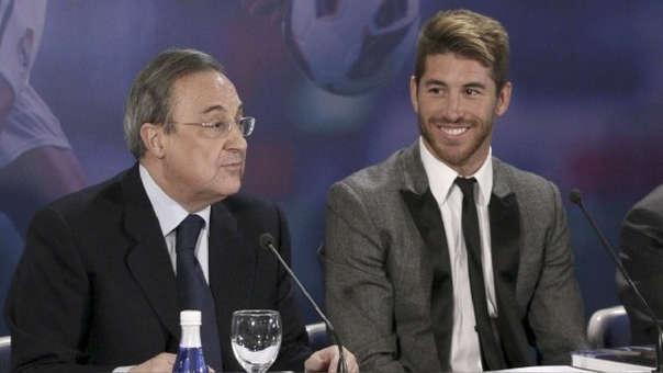 Sergio Ramos llegó al Real Madrid en el 2015. Florentino Pérez fue el que más impulsó su contratación.
