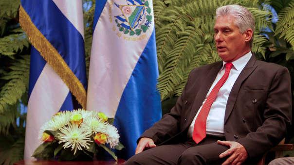 CUBA-EL SALVADOR-DIAZ-CANEL-SANCHEZ