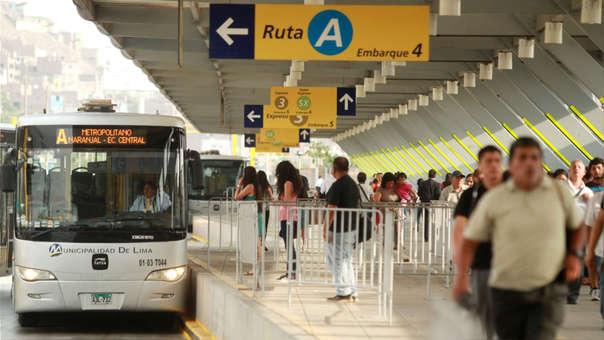 Precio del pasaje del Metropolitano pasaba de 2.50 a  2.85.