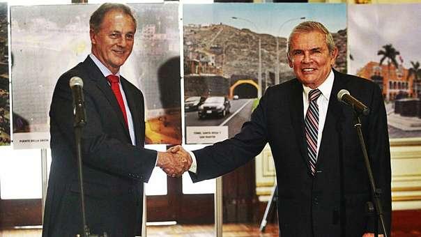 Jorge Muñoz se reunió con Luis Castañeda tras su elección como alcalde.