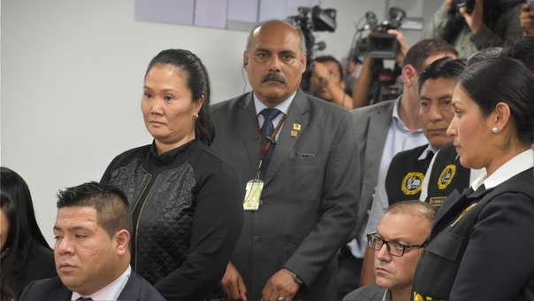 Keiko Fujimori fue detenida en la Sala Penal luego de que se dictara la decisión del juez.