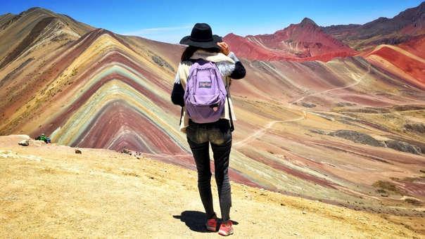 La 'Montaña de los siete colores' en Cusco.
