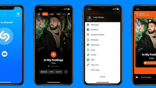 Así luce la integración de Shazam con Instagram Stories