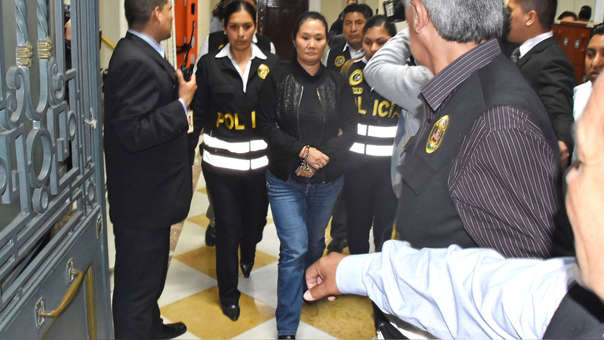 Keiko Fujimori cumplirá 36 meses de prisión preventiva mientras se continúan con las investigaciones por lavado de activos.