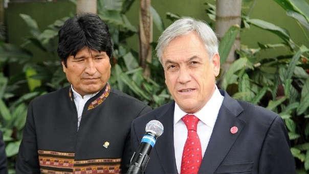 Evo Morales y Sebastián Piñera