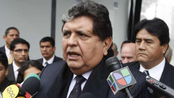 Alan García se volvió a referir a la situación política.