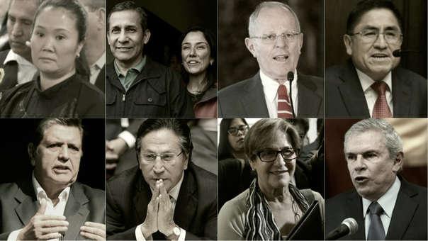 Fujimori, Humala, PPK, Hinostroza, Alan, Toledo, Villarán y Castañeda