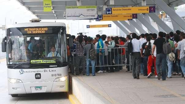 Protransporte se refirió al incremento de la tarifa del Metropolitano.