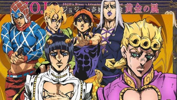 Mención honrosa a Jojo's Bizarre Adventure, quinta parte del conocido anime shonen.