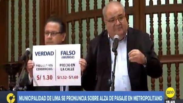 Regidor de la Municipalidad de Lima respondió a las denuncias de Muñoz.