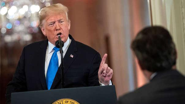 Donald Trump durante una conferencia de prensa esta semana, luego de conocer los resultados de las elecciones.