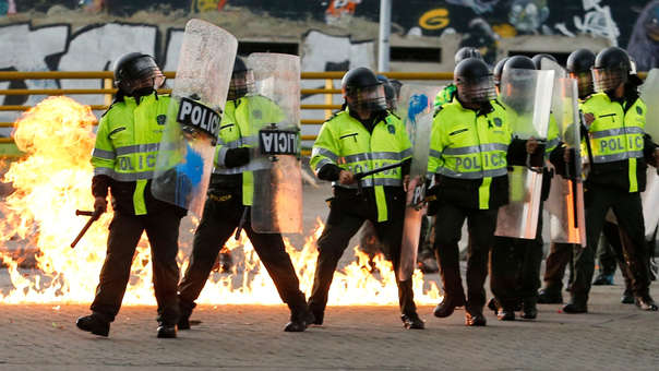 Policías de Colombia