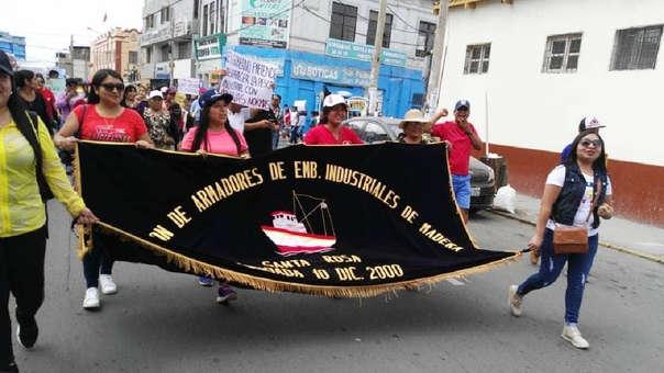 Propietarios y trabajadores industriales protestaron en Chiclayo