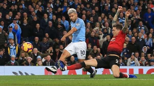Sergio Agüero es el jugador que más goles (8) ha marcado en el derby de Manchester en la historia.