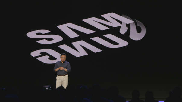 DJ Koh, CEO de Samsung, anunció la semana pasada un dispositivo de pantalla plegable