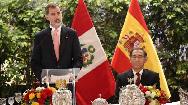 El presidente Martín Vizcarra y el rey de España, Felipe VI participaron de un almuerzo oficial en Palacio de Gobierno.