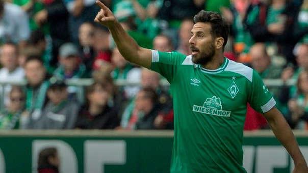 Claudio Pizarro ha marcado 2 goles en la Bundesliga en esta temporada.