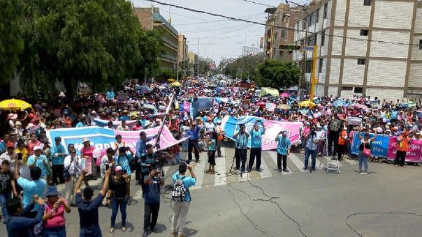 Marcha culminó con mitin en el paseo Las Musas