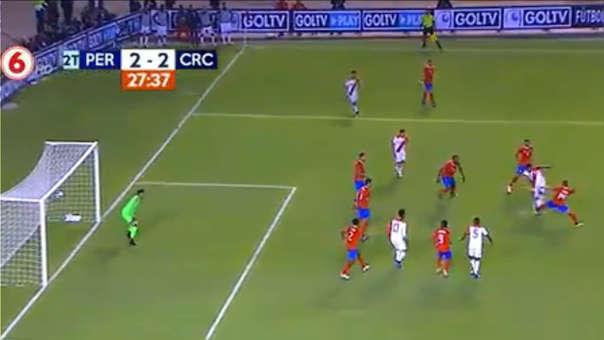 Perú vs. Costa Rica EN VIVO: revive el gol de Farfán tras genial media vuelta | VIDEO