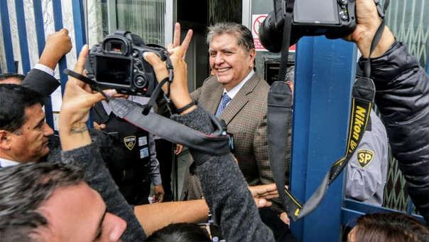 Alan García en la sede de la Fiscalía el jueves pasado.