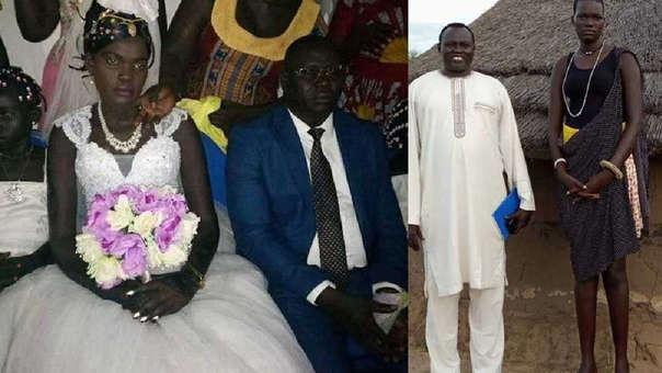 La joven de 17 años se convirtió en la novena esposa de un acaudalado hombre.
