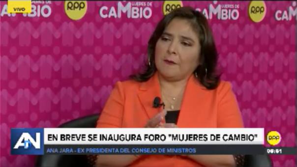 Ana Jara se pronuncia sobre la participación política de la mujer.