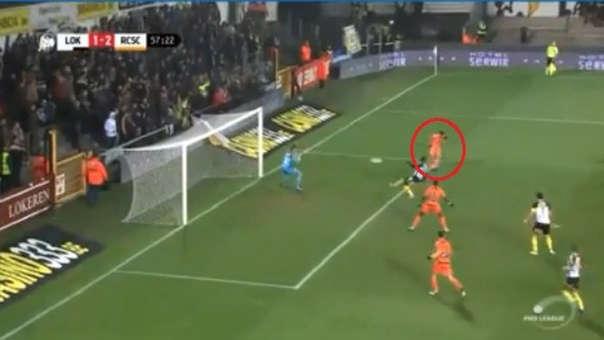 Cristian Benavente lleva 6 goles en la Liga de Bélgica con el Sporting Charleroi.
