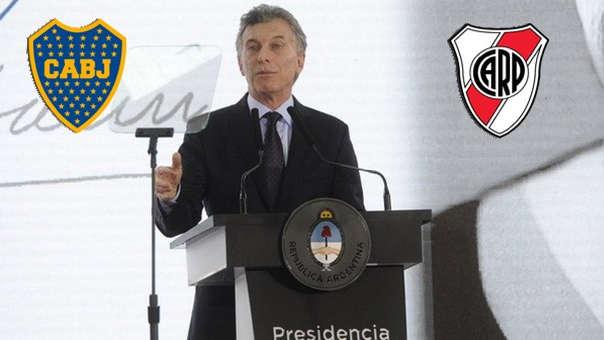 Mauricio Macri quería que para este duelo se juegue con las hinchas de River Plate y Boca Juniors.
