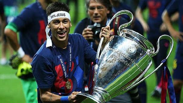 Neymar ganó una Champions League con el Barcelona.
