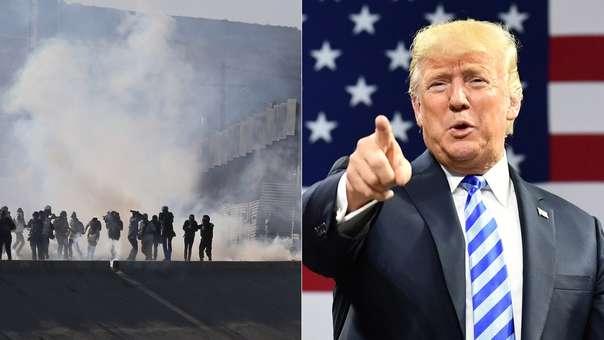 Donald Trump se refirió a los incidentes en la frontera con México con migrantes centroamericanos.