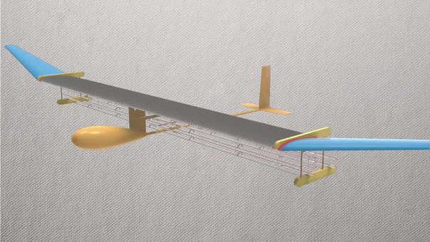 Mini avión con propulsión de viento iónico del MIT.