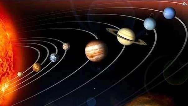 Esta es la imagen tradicional del sistema solar.