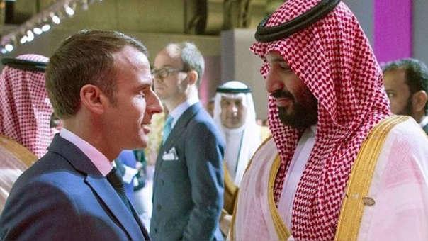 Emmanuel Macron y Mohammed Bin Salman