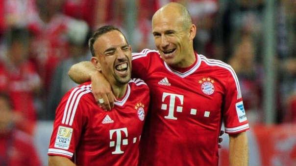 Frank Ribery y Arjen Robben son considerados como dos ídolos de los últimos años en el Bayern Munich.
