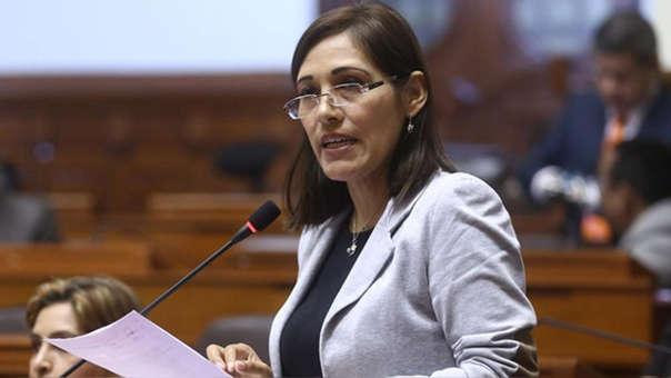 La parlamentaria evitó pronunciarse sobre si es que el congresista de su bancada debe ser sancionado por 120 días.