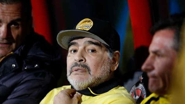 Diego Maradona estuvo a punto de lograr el ascenso en sus primeros meses como técnico del Dorados de Sinaloa.