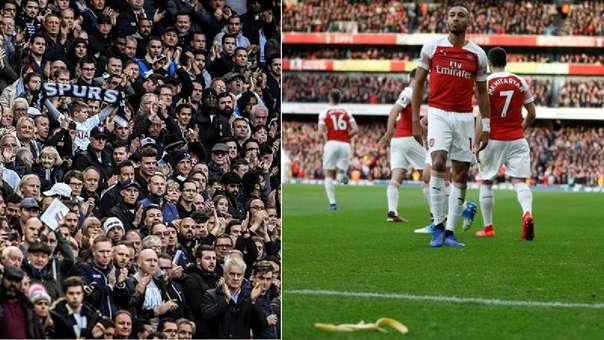 Aubameyang: hincha del Tottenham le arrojó una cáscara de plátano a delantero del Arsenal