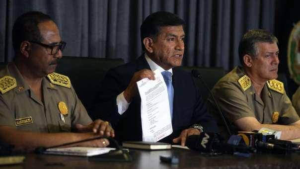 El ministro del Interior, Carlos Morán, respondió a acusaciones de 'chuponeo' de parte de Alan García y el Apra.