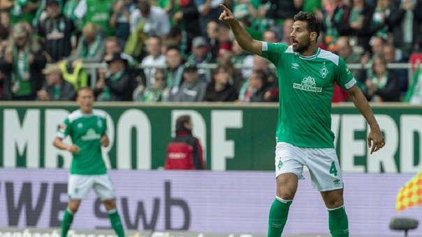 Claudio Pizarro ha marcado tres goles en la temporada con el Werder Bremen.