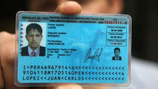 Resolución publicada en el Diario Oficial El Peruano cuenta con la firma del jefe nacional del Reniec.
