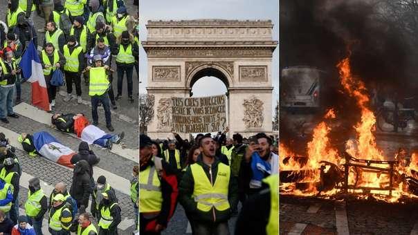Las protestas han generado caos en París y han puesto en jaque al Gobierno de Emmanuel Macron.