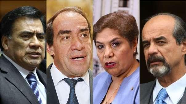 Javier Velásquez Quesquén, Yonhy Lescano, Luz Salgado y Mauricio Mulder están entres los congresistas con más años en el Parlamento.