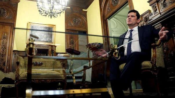 El ministro designado de Justicia de Brasil, Sergio Moro, en una entrevista en Madrid.