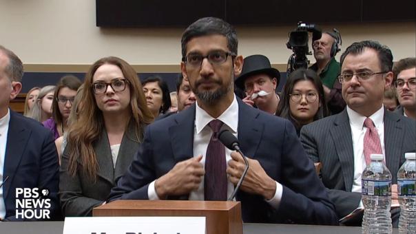 Sundar Pichai, CEO de Google, se presenta ante el Congreso de Estados Unidos