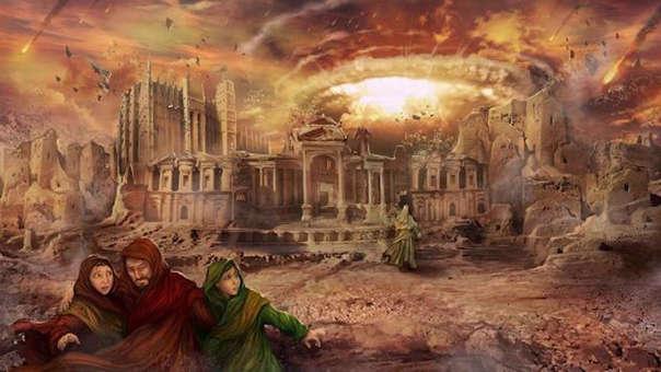 La ciudad de Sodoma es castiga por Dios en el Antiguo Testamenteo de la Biblia