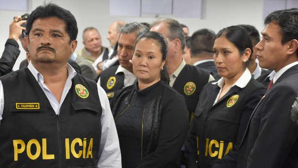 Keiko Fujimori cumple prisión preventiva desde el 31 de octubre de este año.