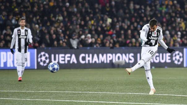 Paulo Dybala lleva 5 goles en la Champions League.