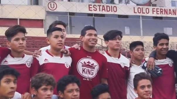 Edison Flores se formó en las divisiones inferiores de Universitario de Deportes.
