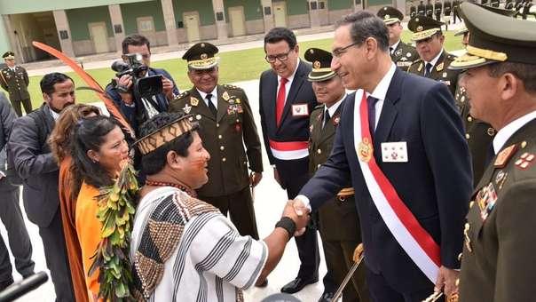 El presidente MartinVizcarra felicitó al alférez Max Flores Inocente y a sus familiares por su logro.